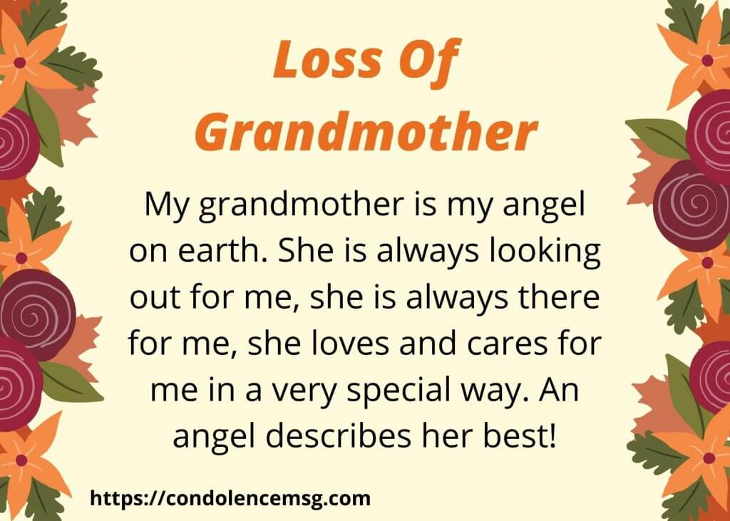 Messages of Condolences for Loss of Grandmother
