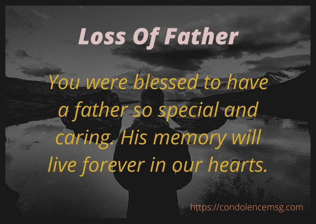 Condolence Messages on Death of Father