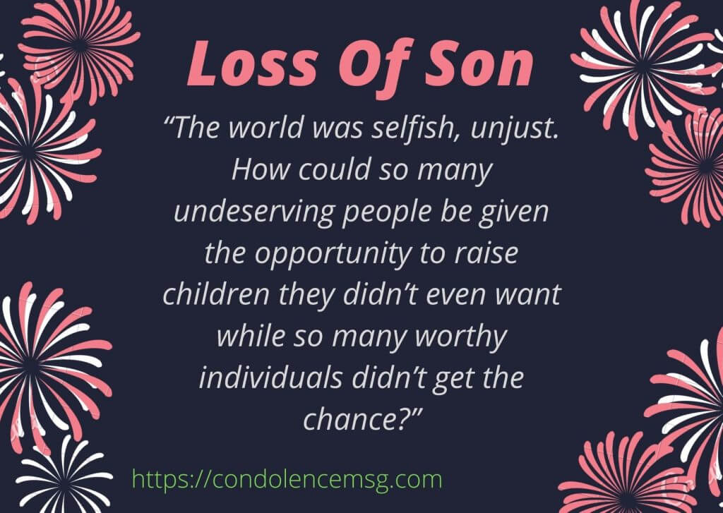 Messages of Condolences for Loss of a Son