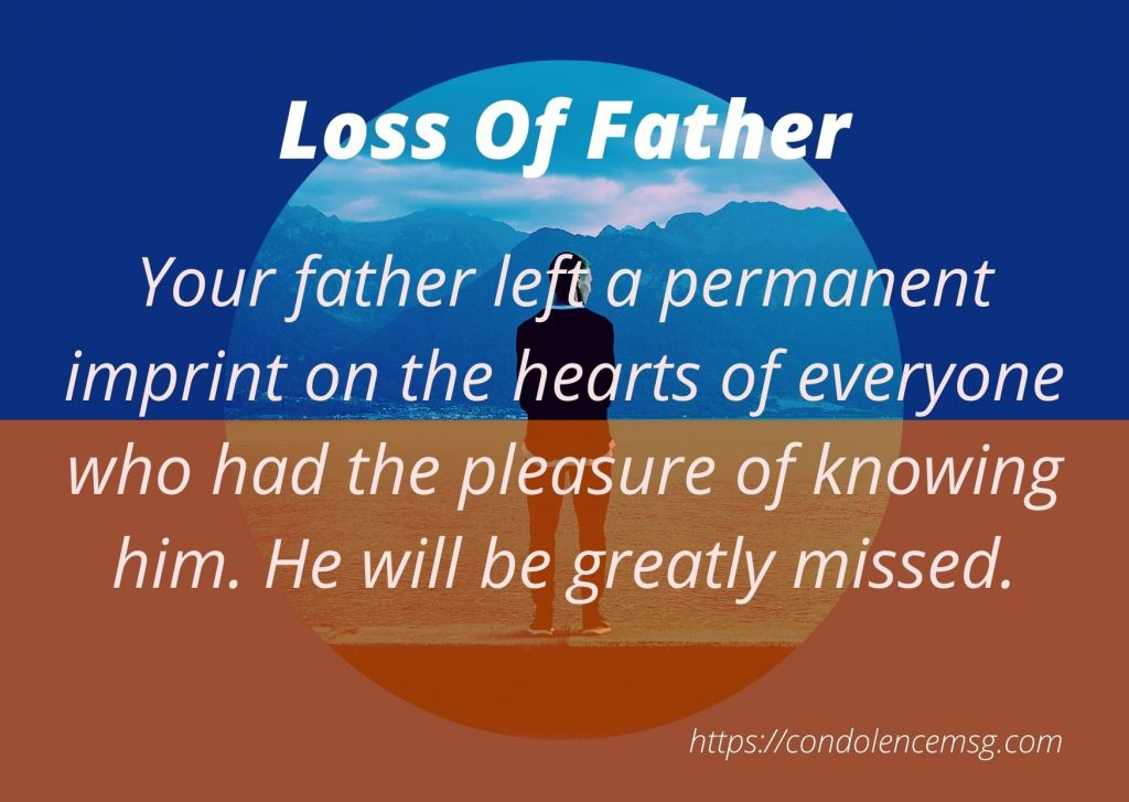 Condolence Messages for Father Death
