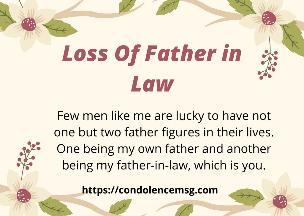 Messages of Condolences for Loss of Father in Law