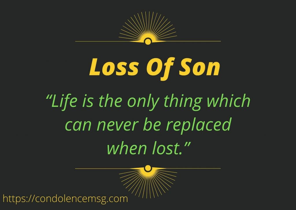 Condolence Messages for Loss of a Son