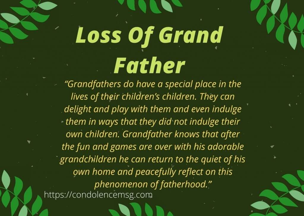 Condolence Messages for Loss of Grandfather