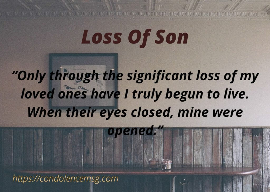Condolence Messages for Son Death