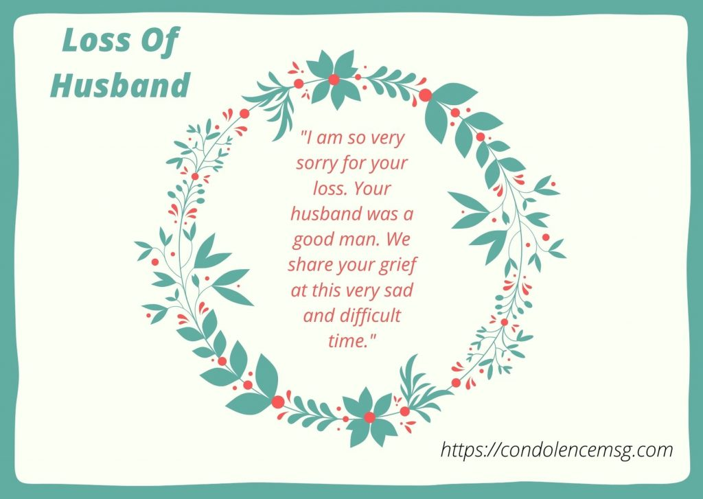 Messages of Condolences for the Loss of a Husband