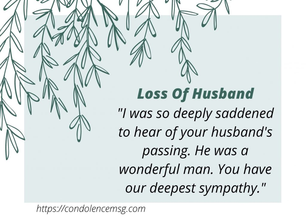 Condolence Messages for Husband Death