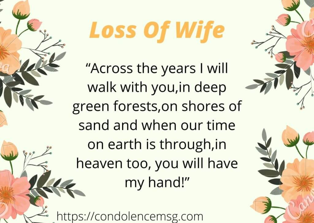 Messages of Condolences for the Loss of a Wife