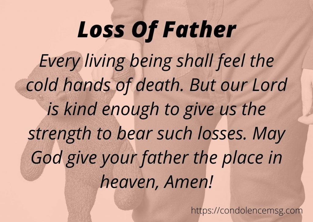 Condolence Messages for Loss of a Father