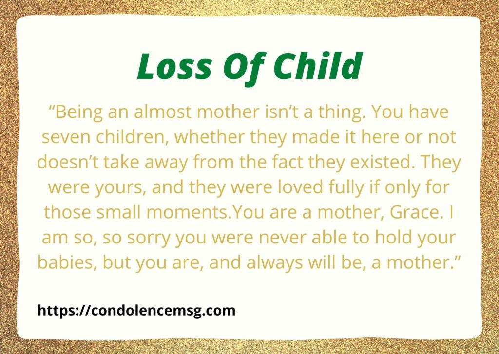 Condolence Messages for Loss of Child
