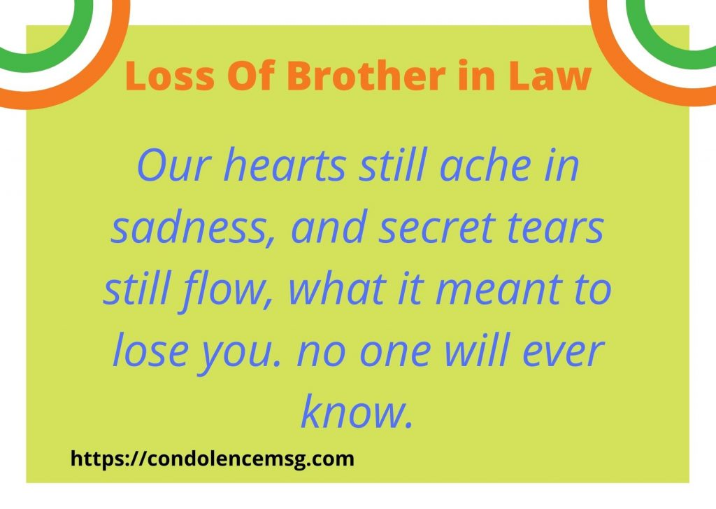 Condolence Messages for Brother in Law Death