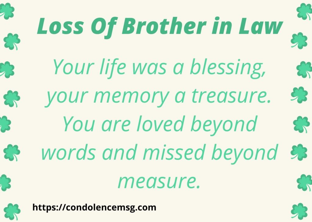 Messages of Condolences for Loss of Brother in Law
