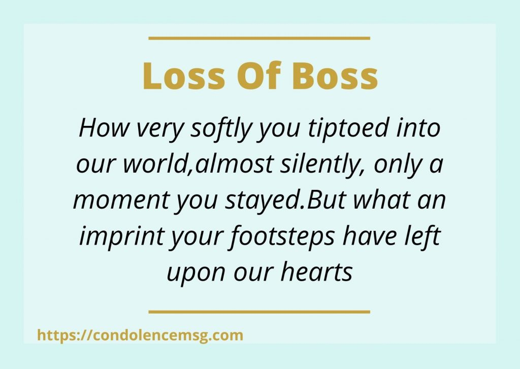 Condolence Messages for Loss of Boss