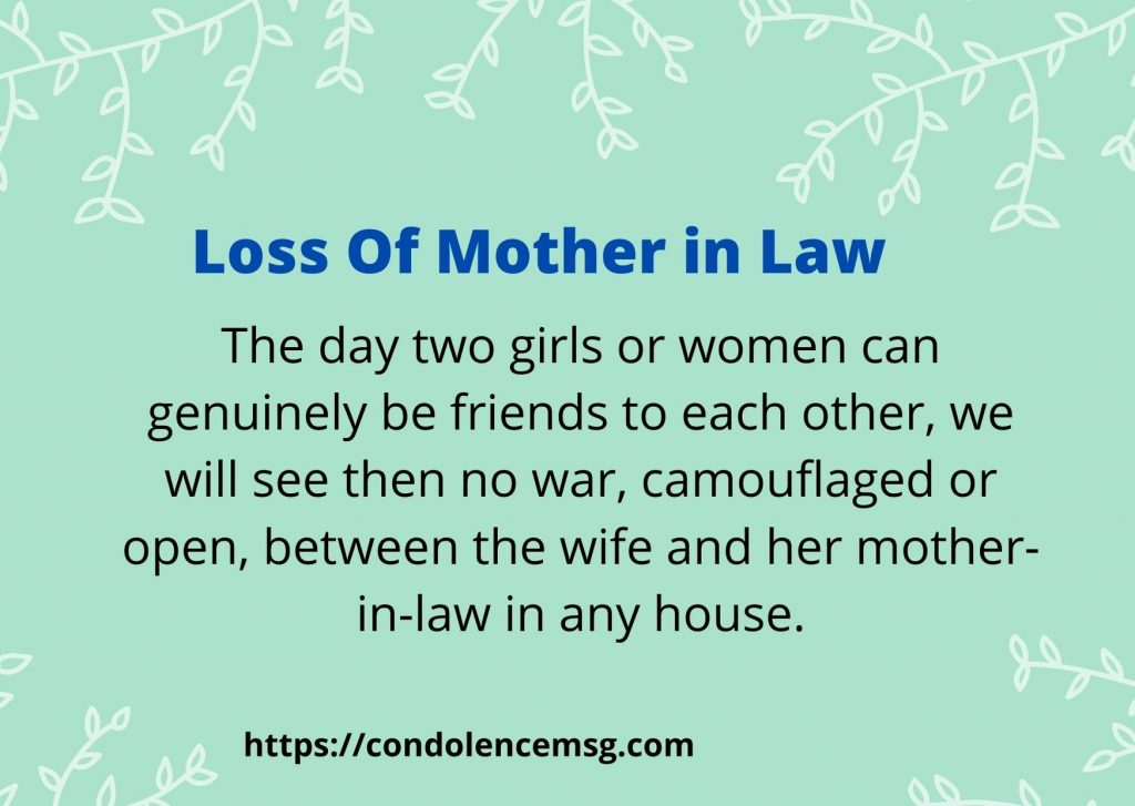 Condolence Messages for Mother in Law Death