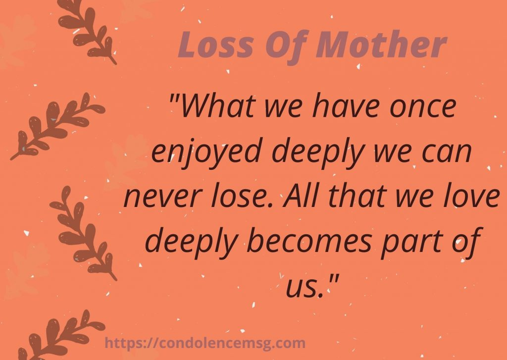 Condolence Messages To Colleague on Death of Mother