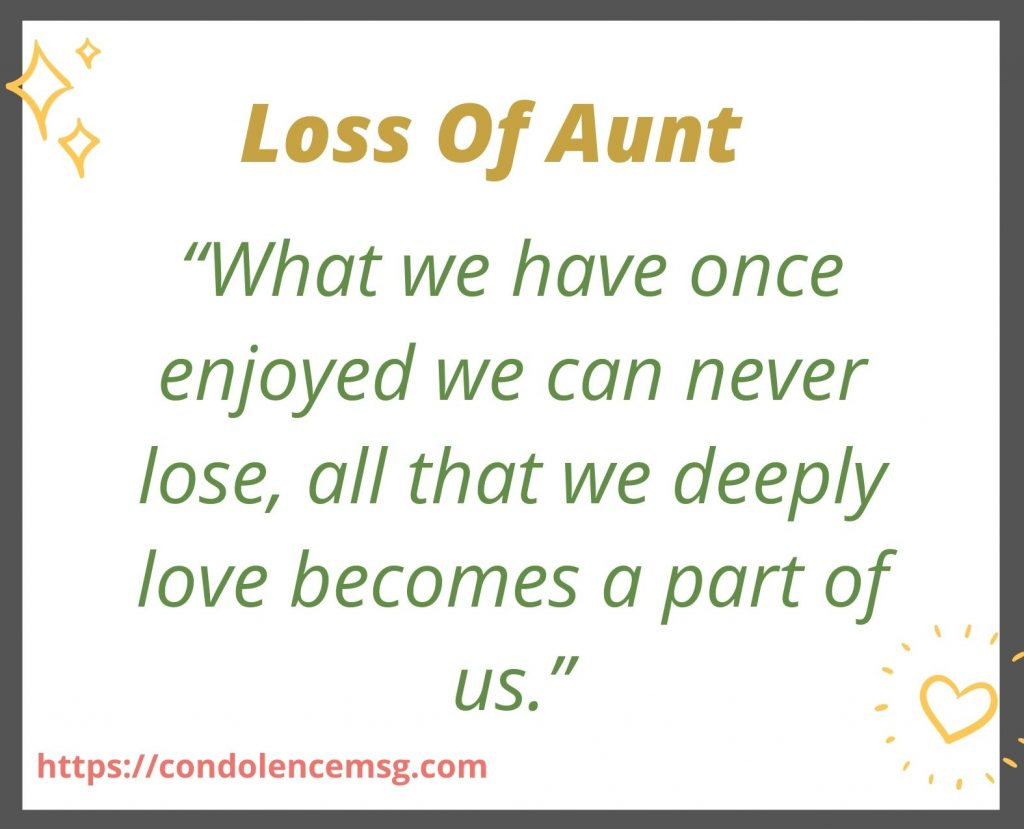 Condolence Messages for Aunt Death