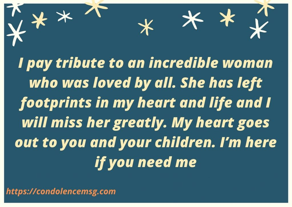 Short Condolence Messages For Wife