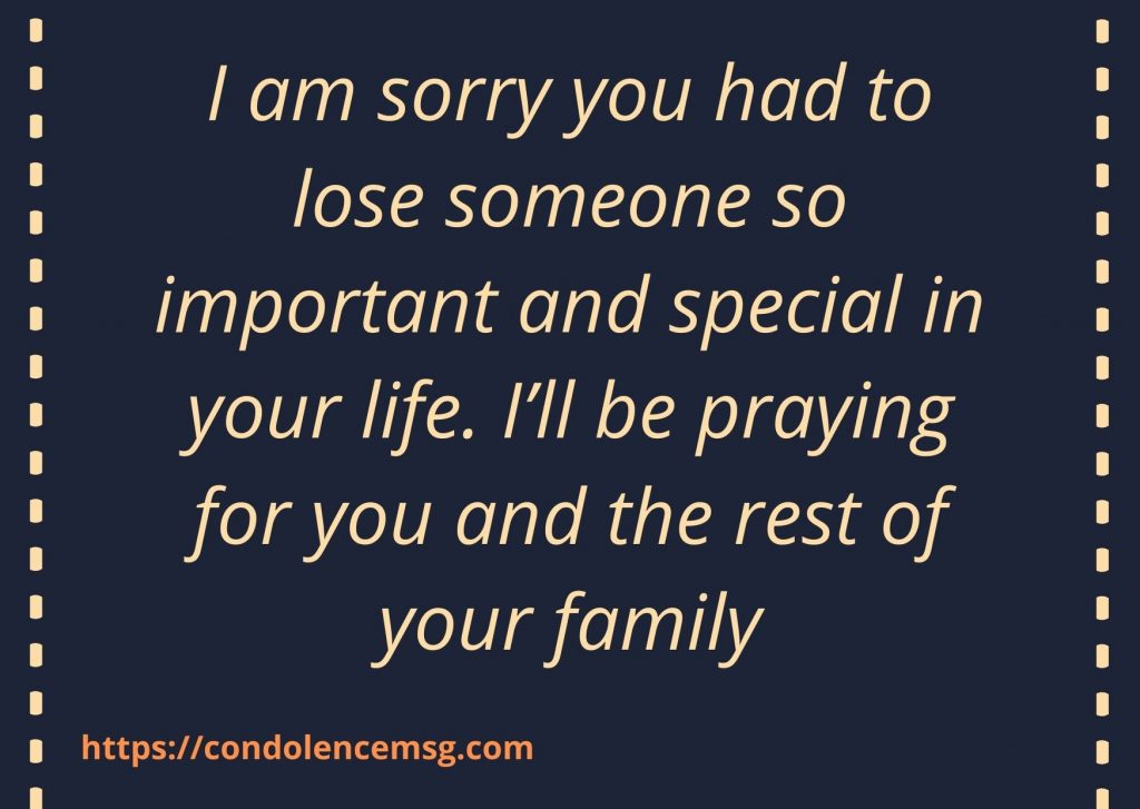 Short Sympathy Messages For Loss Of Mother