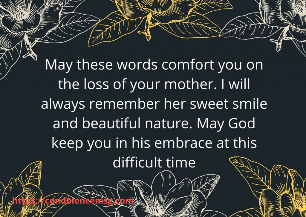 Inspirational Sympathy Messages For Loss Of Mother