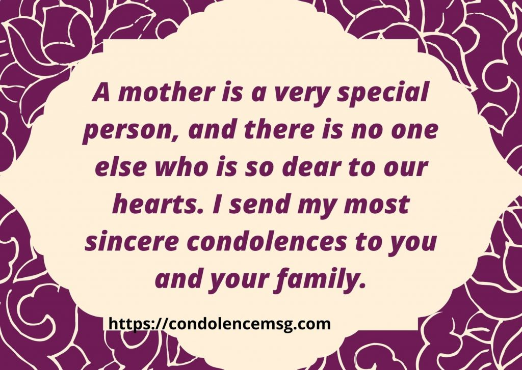 Short Condolence Messages For Mother