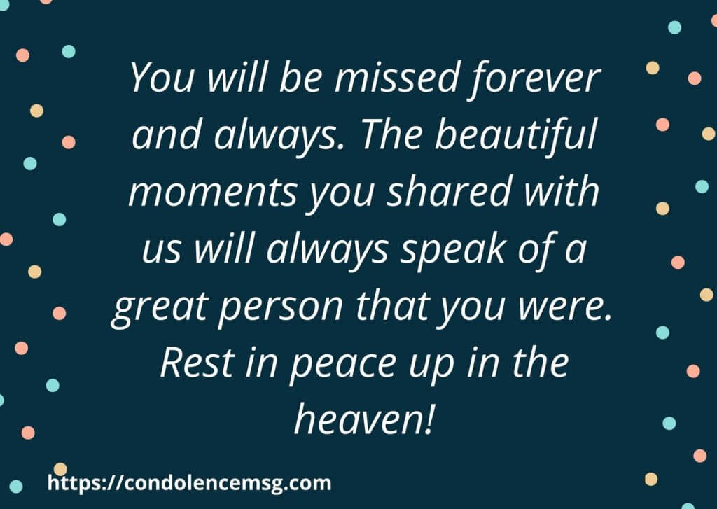 Inspirational Sympathy Messages For Loss Of Aunt