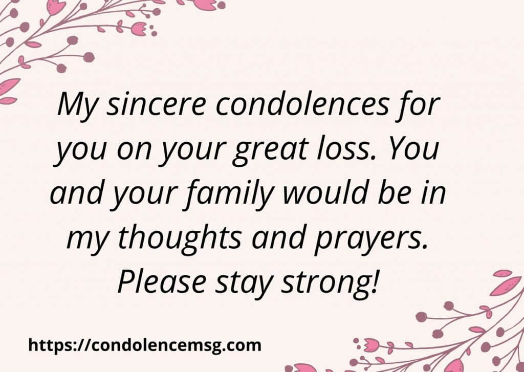 Short Sympathy Messages For Loss Of Aunt