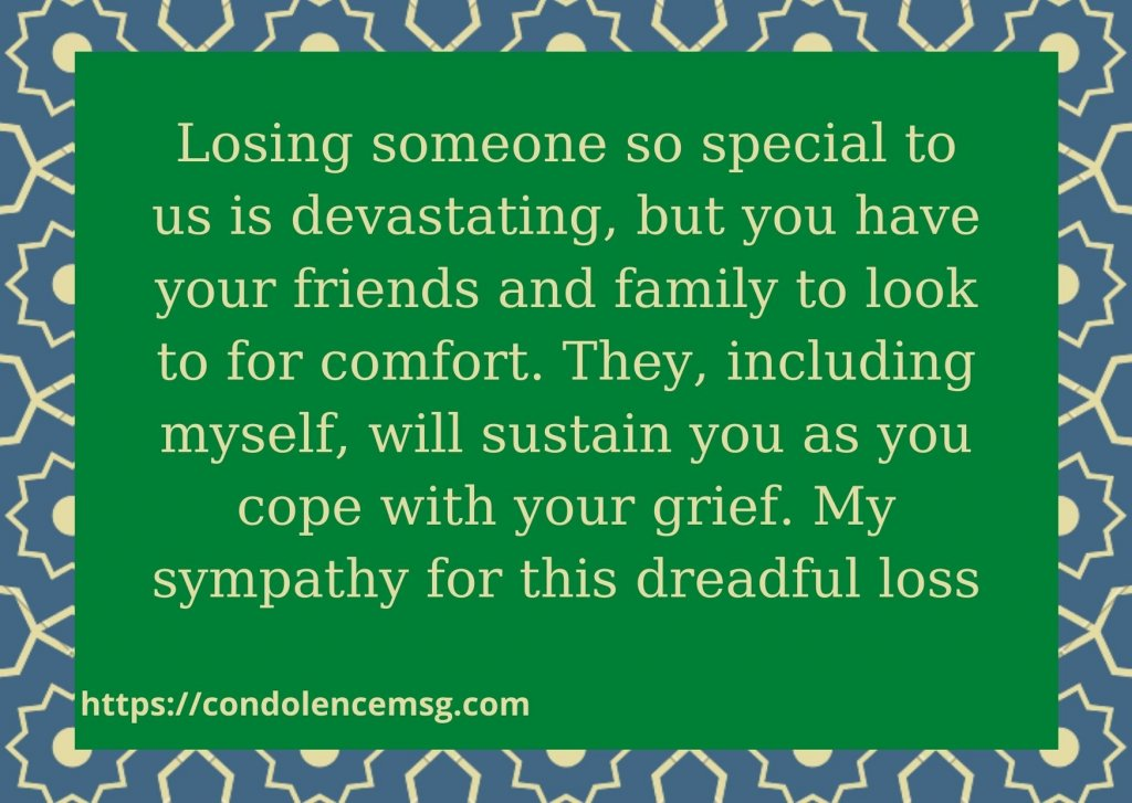 Short Sympathy Messages For Loss Of Cousin