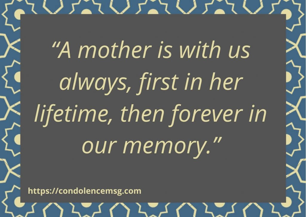 Short Sympathy Messages To Colleague For Loss Of Mother